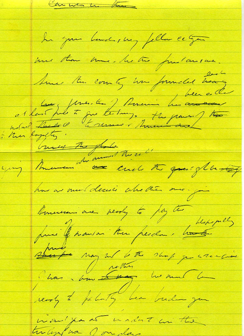 JFK Inaug Notes