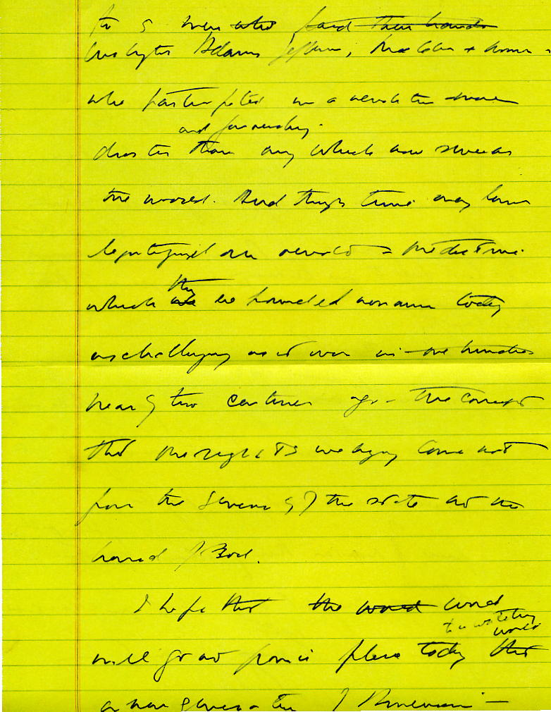 JFK Inaug Notes2