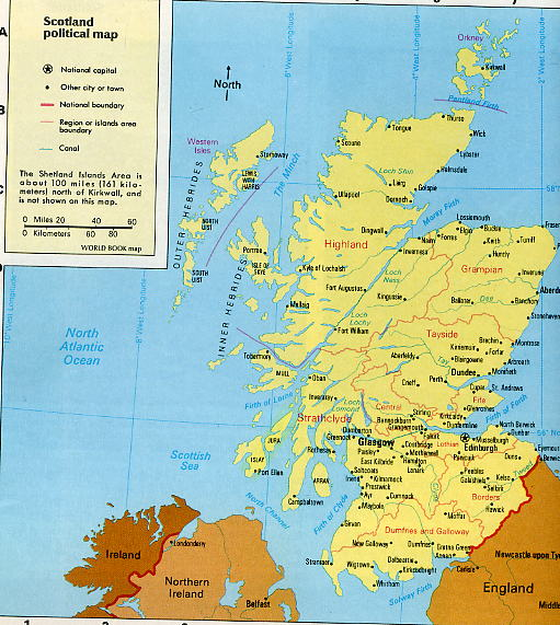 Map Scot Hebrides