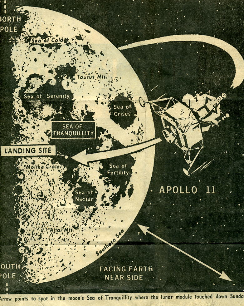 Moon Land Map