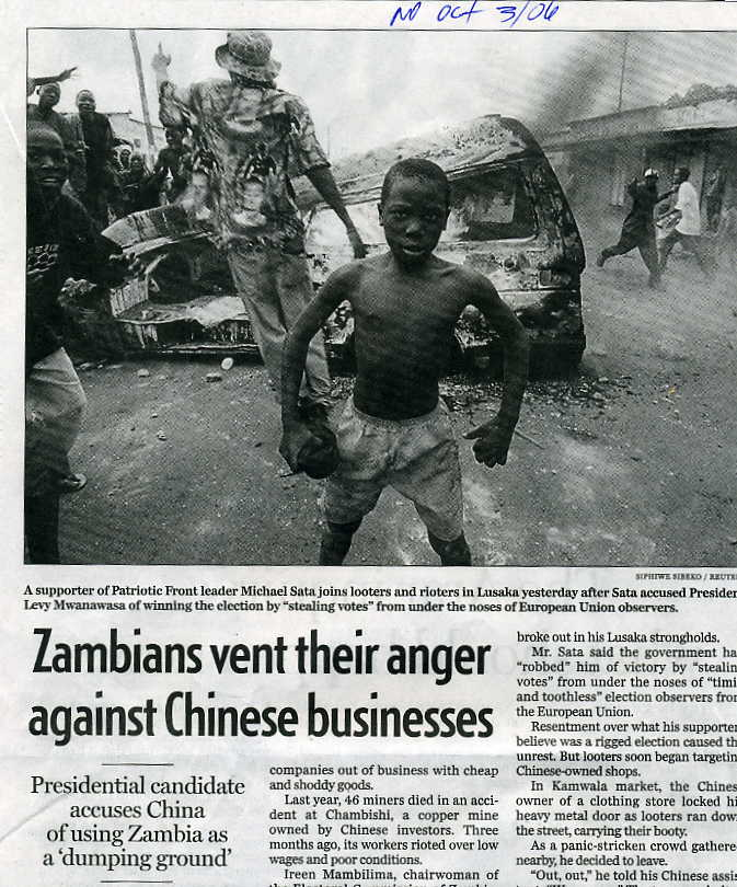 Zambia Protest China